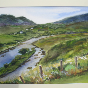 Bog Country watercolor 19x23 framed